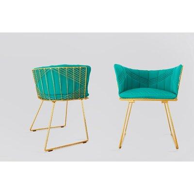 Captain Sunbrella Dining Chair Cushion Fabric: Teal