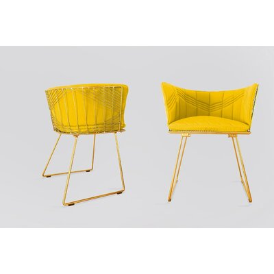 Captain Sunbrella Dining Chair Cushion Fabric: Yellow