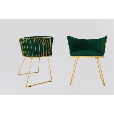 Captain Sunbrella Dining Chair Cushion Fabric: Forest Green