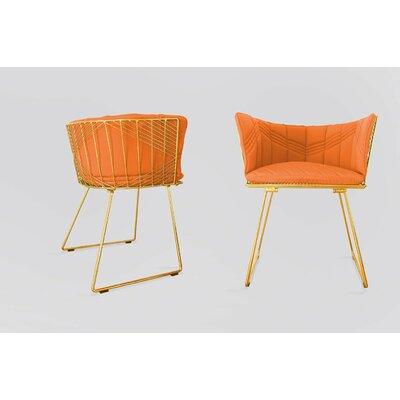 Captain Sunbrella Dining Chair Cushion Fabric: Melon