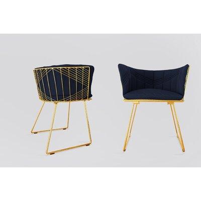 Captain Sunbrella Dining Chair Cushion Fabric: Navy