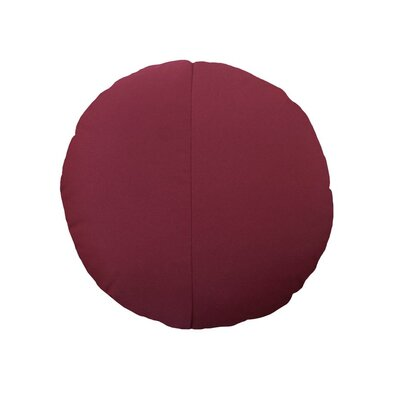 Round Outdoor Throw Pillow Color: Burgundy