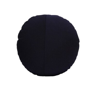 Round Outdoor Throw Pillow Color: Black