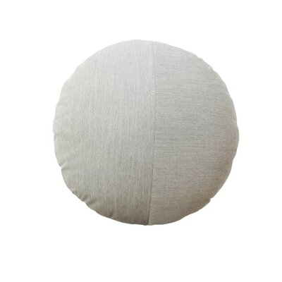 Round Outdoor Throw Pillow Color: Granite