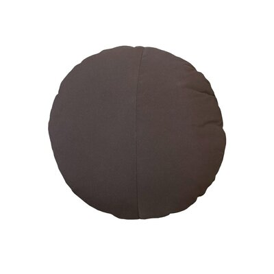 Round Outdoor Throw Pillow Color: Walnut