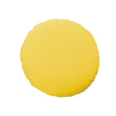 Round Outdoor Throw Pillow Color: Yellow
