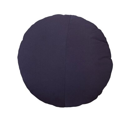 Round Outdoor Throw Pillow Color: Navy
