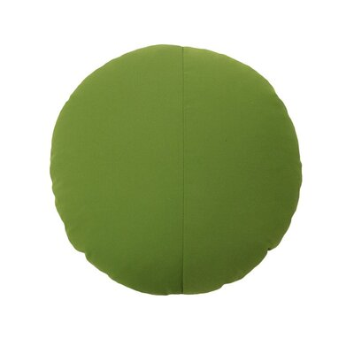 Round Outdoor Throw Pillow Color: Palm