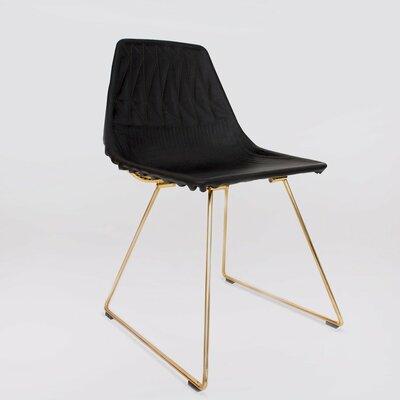 Lucy Saddle Barstool Cushion (Set of 2) Fabric: Black