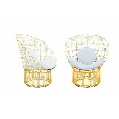 Peacock Sunbrella Lounge Chair Cushion Fabric: White