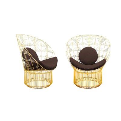 Peacock Sunbrella Lounge Chair Cushion Fabric: Walnut