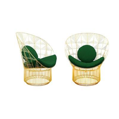 Peacock Sunbrella Lounge Chair Cushion Fabric: Forest Green