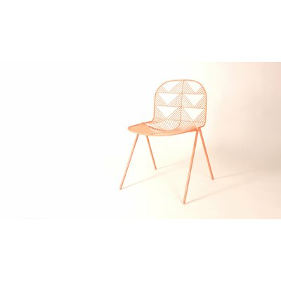 Betty Side Chair Color: Peachy Pink