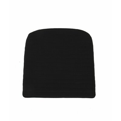 Lucy Sunbrella Barstool Cushion Fabric: Black