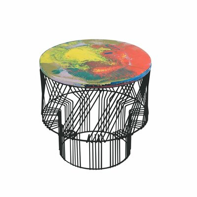 Wax Drum End Table Finish: Black