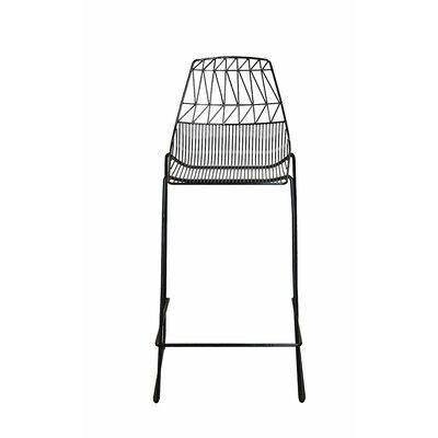Stacking 30 Bar Stool (Set of 2) Color: Black