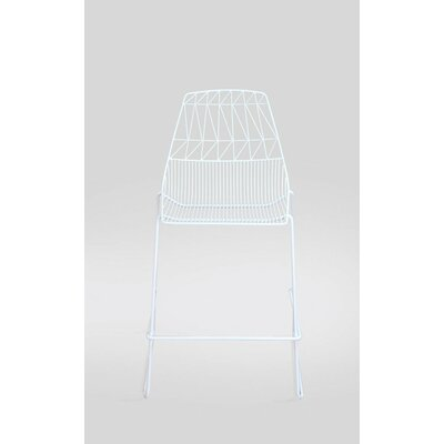 Stacking 26 Bar Stool (Set of 2) Color: White