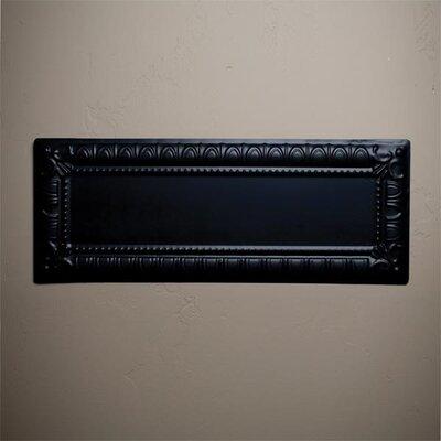 10 x 25 Metal Hand-Painted Tile in Black
