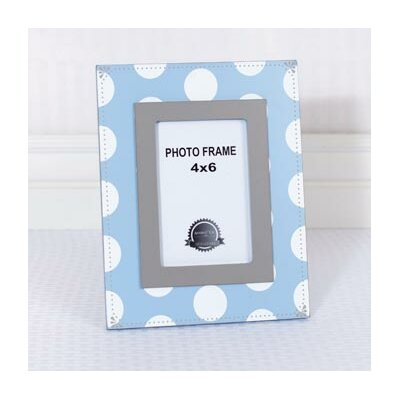 Polka Picture Frame Color: Blue / Gray 92004