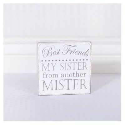 Best Friends Wood Letter Block