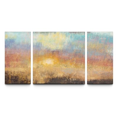 Paradise Sunset Textured Triptych By Studio 212 3 Piece Painting Print On Canvas Set
