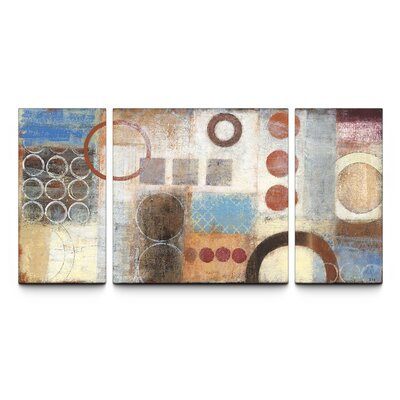 Reflections Textured By Studio 212 3 Piece Painting Print On Canvas Set