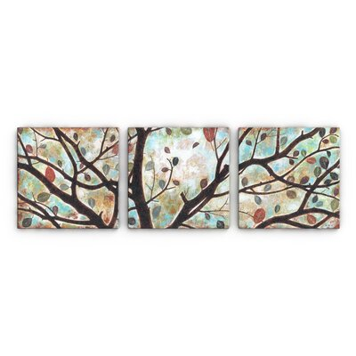 Rustling Leaves Triptych By Studio 212 3 Piece Painting Print On Canvas Set