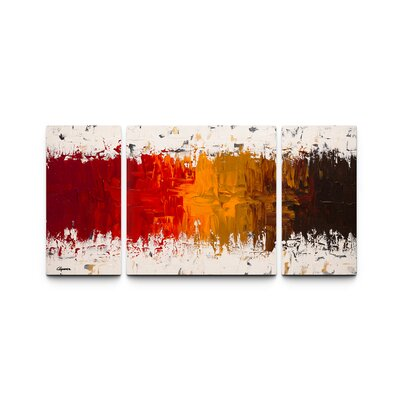Luminescence Triptych By Carmen Guedez 3 Piece Painting Print On Canvas Set