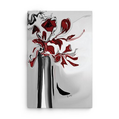 Red Orchid By Rabi Khan Graphic Art On Canvas