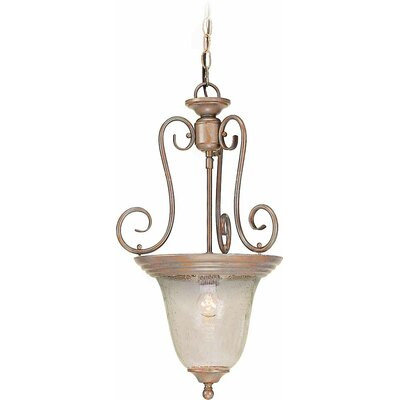 Rhodes 1-Light Pendant Finish: Prairie Rock