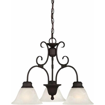 Troy 3-Light Shaded Chandelier Finish: Antique Bronze