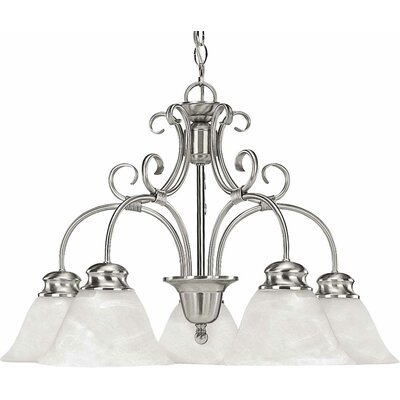 Troy 5-Light Shaded Chandelier Finish: Brushed Nickel