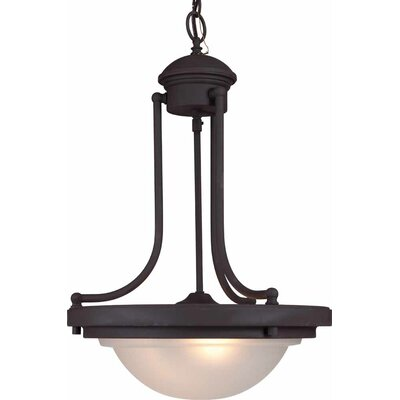 2-Light Bowl Pendant Finish: Antique Bronze