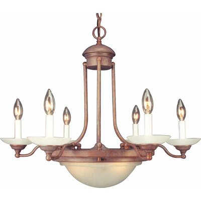 6-Light Candle-Style Chandelier Finish: Prairie Rock