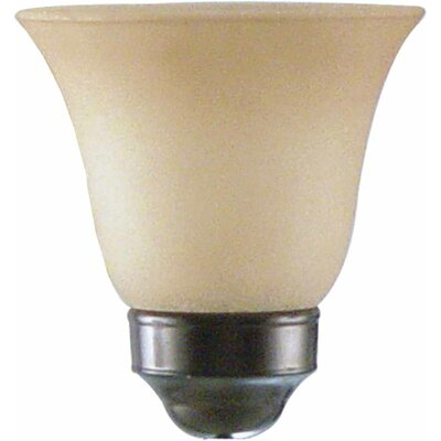 5.5 Glass Bell Ceiling Fan Fitter Shade