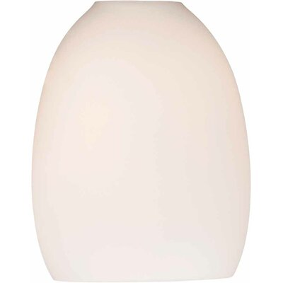 5.25 Glass Oval Pendant Shade Shade Color: White