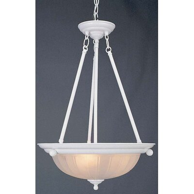 3-Light Bowl Pendant Finish: Textured White