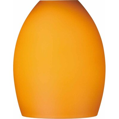 5.25 Glass Oval Pendant Shade Shade Color: Amber