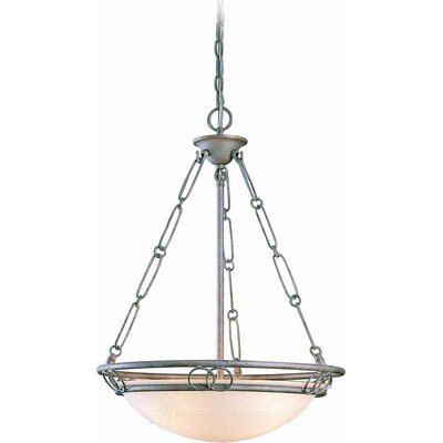 Kuta 3-Light Bowl Pendant Finish: Platinum Rust