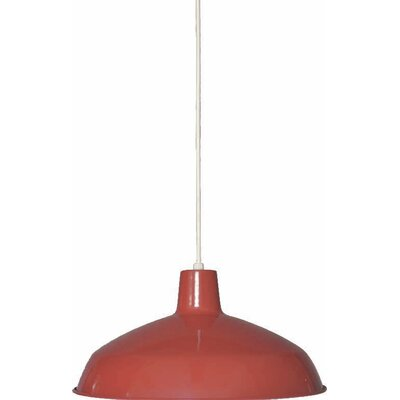 1-Light Mini Pendant Finish: Red