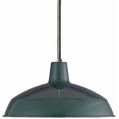 1-Light Mini Pendant Finish: Dark Green