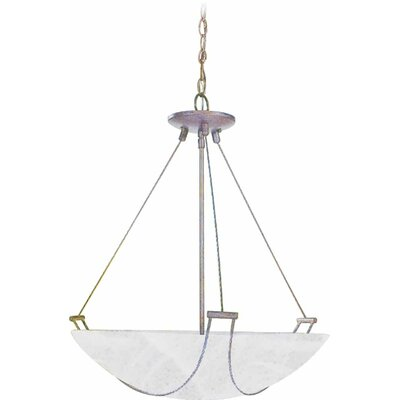 3-Light Bowl Pendant Finish: Prairie Rock, Size: 18.25 H x 17.25 W x 17.25 D