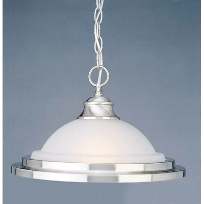 1-Light Inverted Pendant Finish: Brushed Nickel
