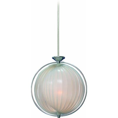1-Light Globe Pendant Shade Color: White
