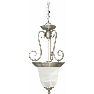 Troy 1-Light Bowl Pendant Finish: Brushed Nickel