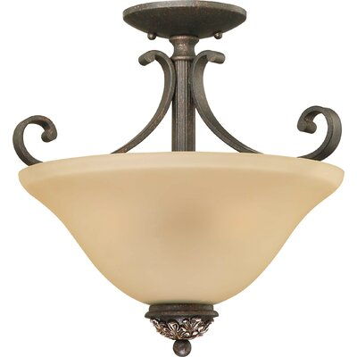 Bristol 3-Light Semi Flush Mount