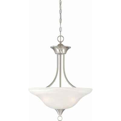 Whetsel 3-Light Bowl Pendant Color: Brushed Nickel