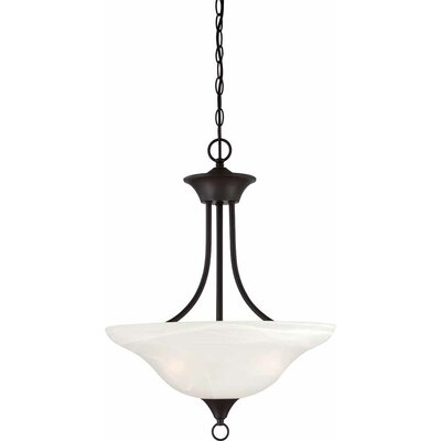 Whetsel 3-Light Bowl Pendant Finish: Antique Bronze