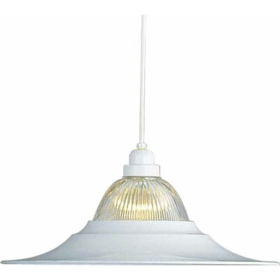 Roth 1-Light Inverted Pendant Finish: White
