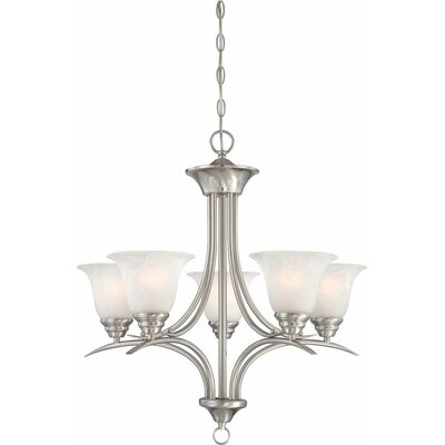 Trinidad 5-Light Shaded Chandelier Finish: Brushed Nickel